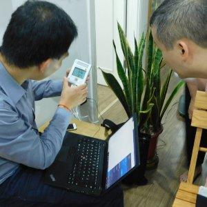Installation der ersten Raumklimamessgeräte in Hanoi im CAMaRSEC Projekt