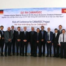 Gruppenbild des CAMaRSEC Projektteam bei der Auftaktkonferenz am 10. Oktober 2019 in Hanoi  NUCE