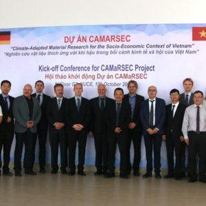 Gruppenbild des CAMaRSEC Projektteam bei der Auftaktkonferenz am 10. Oktober 2019 in Hanoi